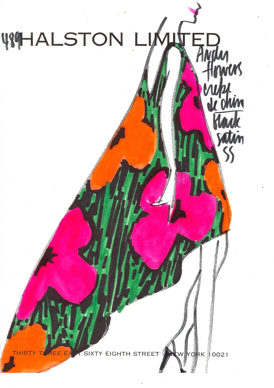 5-Halston LTD, Warhol flowers