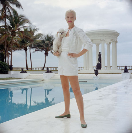 CZ Guest by the pool in the iconic shot taken by Slim Aarons