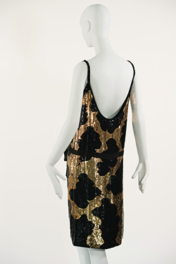 norell-giraffe-pattern-sequin-sheath-dress