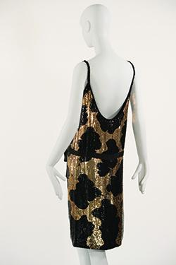 norell-giraffe-pattern-sequin-sheath-dress