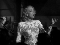Marlene Dietrich + A FOREIGN AFFAIR + Irene white illusion gown 9