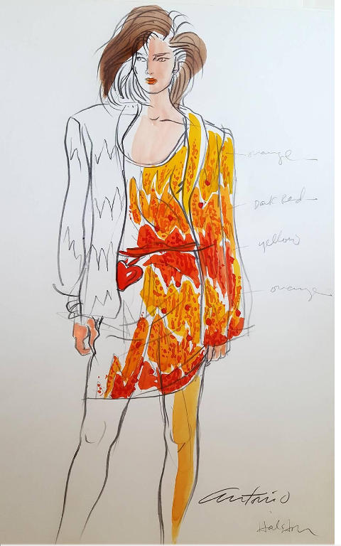 Screenshot-2018-4-6 Antonio Lopez - Halston , Vogue Magazine Illustration, Italy For Sale at 1stdibs