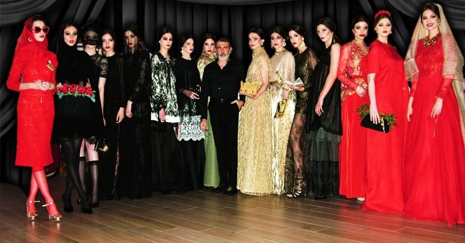 Foto Michele Miglionico e le modelle.1