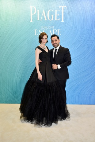 PARIS, FRANCE - JUNE 18: Coco Rocha and her husband pose at the Launch of Piaget sunlight escape at Palais d'Iena on June 18, 2018 in Paris, France. (Photo by Kristy Sparow/Getty Images For Piaget) *** Local Caption *** Coco Rocha