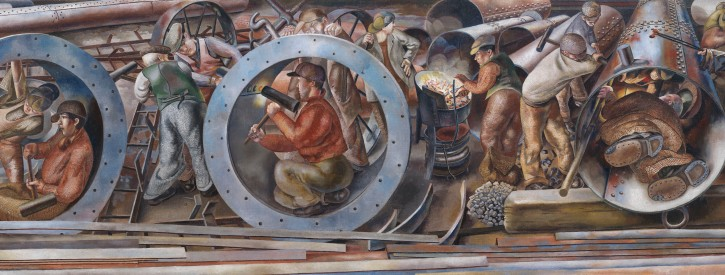 Detail_of_Riveters_from_the_series_Shipbuilding_on_the_Clyde_Stanley_Spencer_United_Kingdom_1941__Imperial_War_Museums