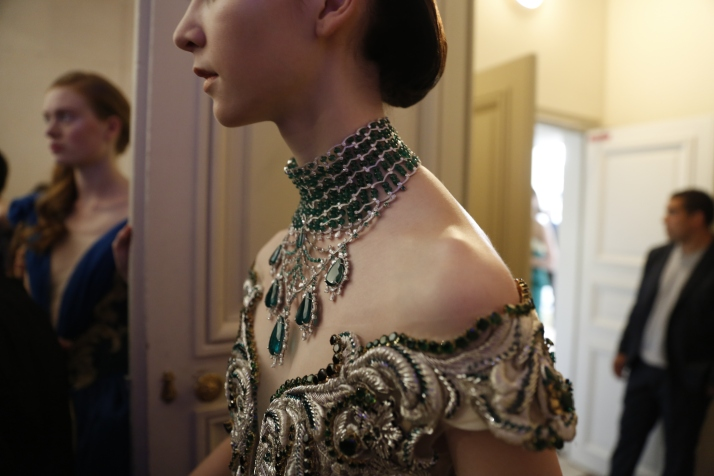 Guo Pei FW17-18 Couture- Backstage 103