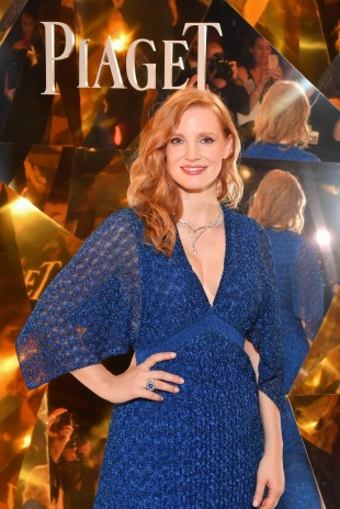 PARIS, FRANCE - JUNE 18: Jessica Chastain attends the Launch of Piaget sunlight escape at Palais d'Iena on June 18, 2018 in Paris, France. (Photo by Stephane Cardinale/For Piaget) *** Local Caption *** Jessica Chastain
