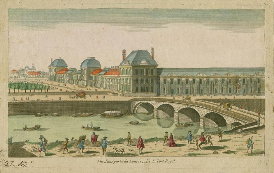 Vuë d'une partie du Louvre © Musée Stewart BR