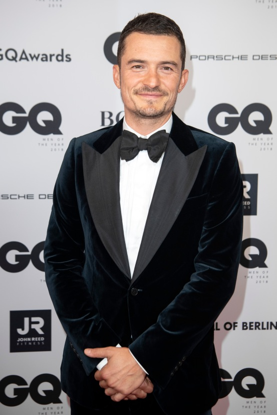 BERLIN, GERMANY - NOVEMBER 08: Orlando Bloom arrives for the 20th GQ Men of the Year Award at Komische Oper on November 8, 2018 in Berlin, Germany. (Photo by Matthias Nareyek/Getty Images for GQ Germany) *** Local Caption *** Orlando Bloom
