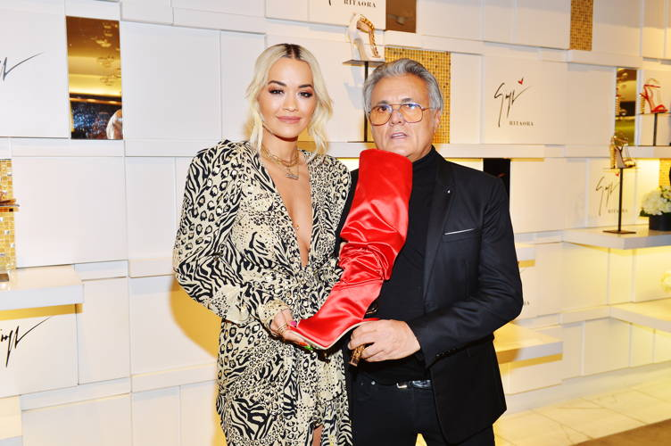 Giuseppe Zanotti And Rita Ora Launch 'Giuseppe for Rita Ora' Shoe Collection At Saks Fifth Avenue Beverly Hills