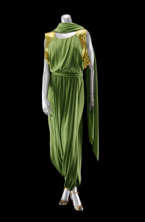 Harem evening ensemble in two parts (dress) Jeanne Lanvin (French, 1867–1946) Fall 1935–36 Silk plain-weave crepe, trimmed with gilded leather * Gift of Miss Lucy T. Aldrich Reproduced with permission. * Photograph © Museum of Fine Arts, Boston