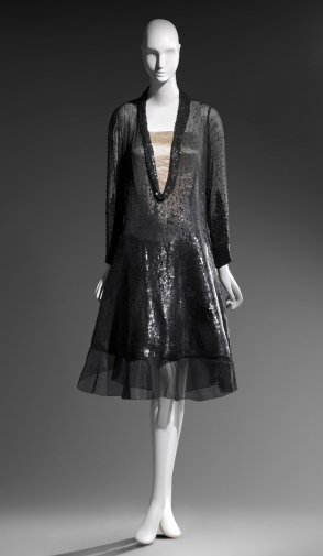 Woman's dress House of Chéruit (French, 1906–1935) 1927 Silk plain weave; sequins * Helen and Alice Colburn Fund, Harriet Otis Cruft Fund, and funds 
