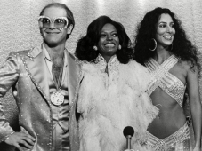 Mandatory Credit: Photo by Barry Schultz/Sunshine/REX (2826018by) Elton John, Diana Ross and Cher Various In Los Angeles at the Grammy's 1975