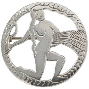 H.G. Murphy sterling-silver Virgo brooch, ca. 1933