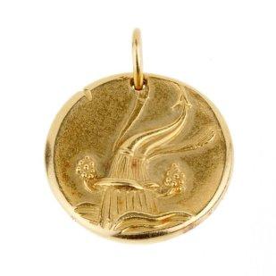 Van Cleef & Arpels gold Aquarius pendant, 1970s