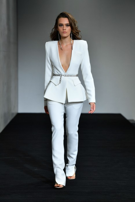 SYDNEY, AUSTRALIA - MAY 14: A model walks the runway during the Mariam Seddiq show at Mercedes-Benz Fashion Week Resort 20 Collections at Carriageworks on May 14, 2019 in Sydney, Australia. (Photo by Stefan Gosatti/Getty Images)