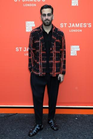 LONDON, ENGLAND - JUNE 08: Matthew Zorpas attends St James's LFWM shows on June 08, 2019 in London, England. (Photo by David M. Benett/Dave Benett/Getty Images for St James's)