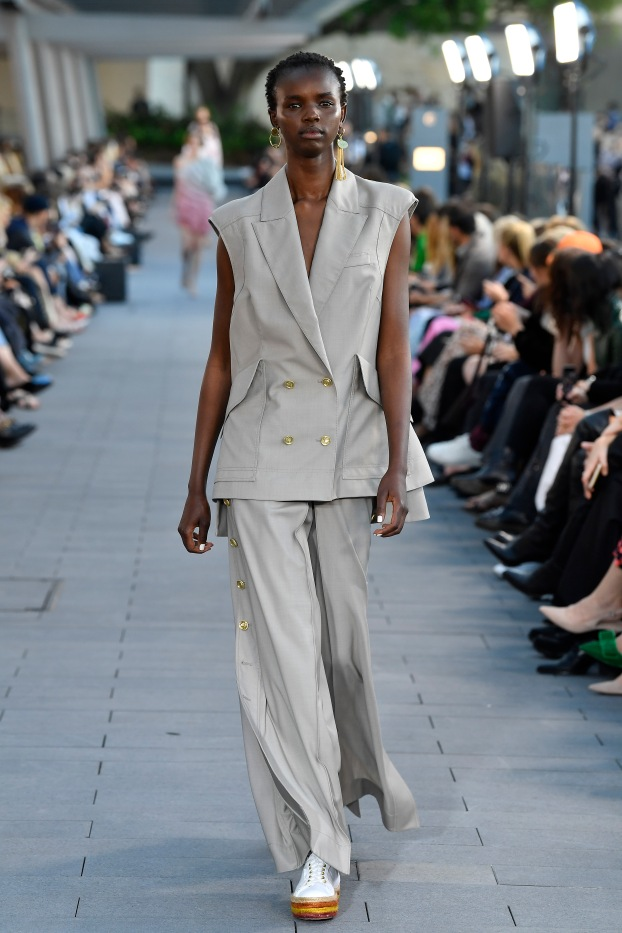 SYDNEY, AUSTRALIA - MAY 12: A model walks the runway during the Mercedes-Benz Presents Aje show at Mercedes-Benz Fashion Week Resort 20 Collections at Campbell's Stores on May 12, 2019 in Sydney, Australia. (Photo by Stefan Gosatti/Getty Images)