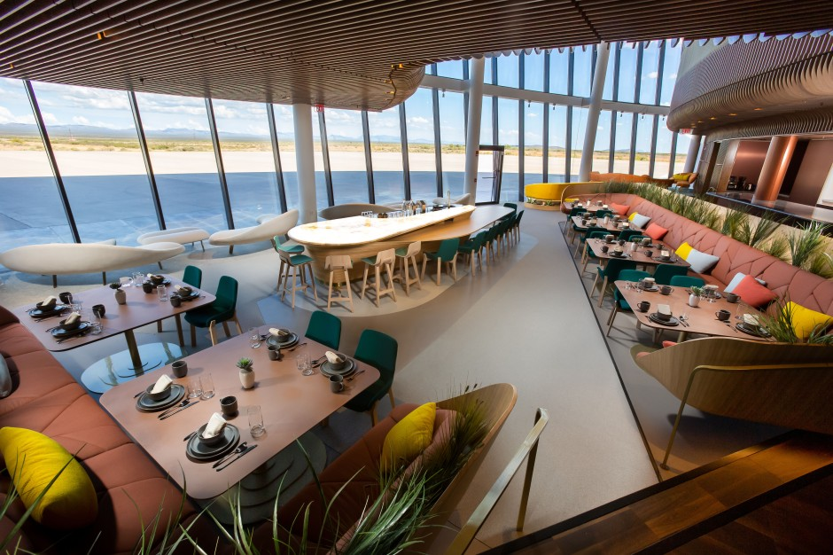 NEW: Gaia lounge at Gateway to Space, Spaceport America, New Mexico