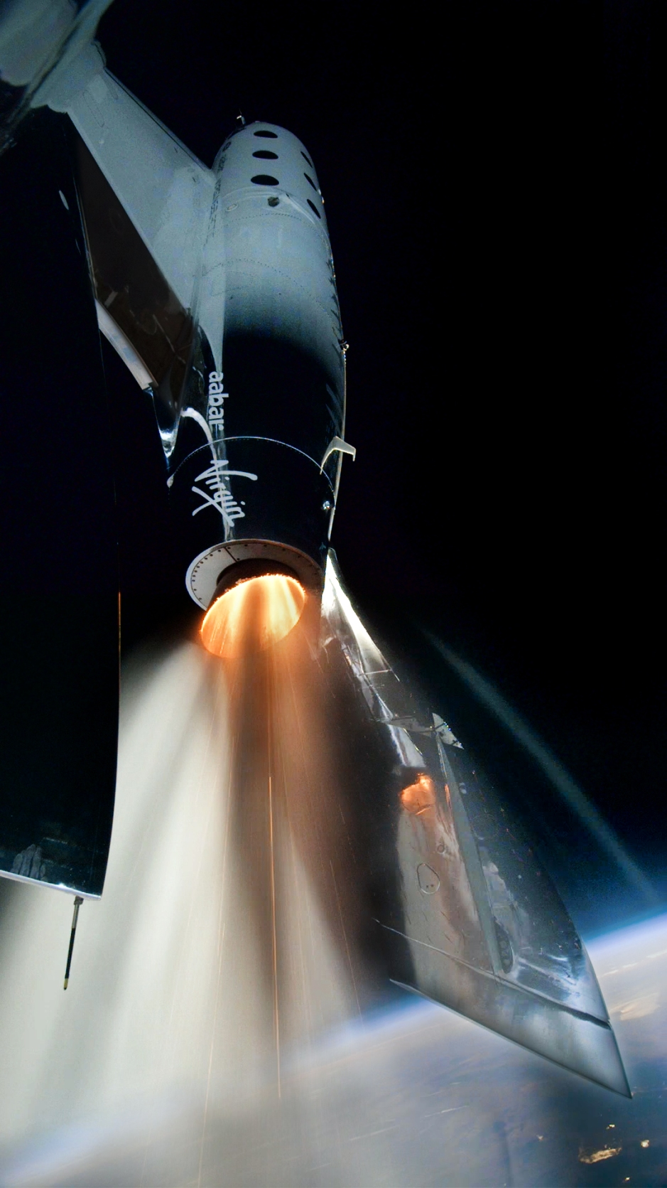 VSS Unity Rockets to Space on Historic First Spaceflight