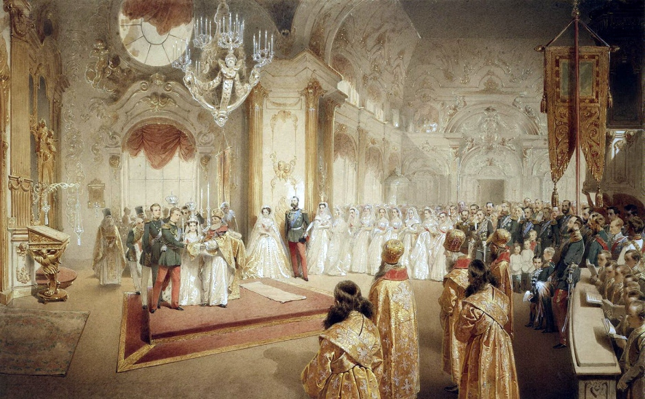 Wedding_of_Grand_Duke_Alexandr_Alexandrovich_and_Maria_Feodorovna_by_M.Zichy_(1867,_Hermitage).jpg