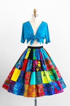 Falda estampada por Martha Sleeper, SJ, PR 1955