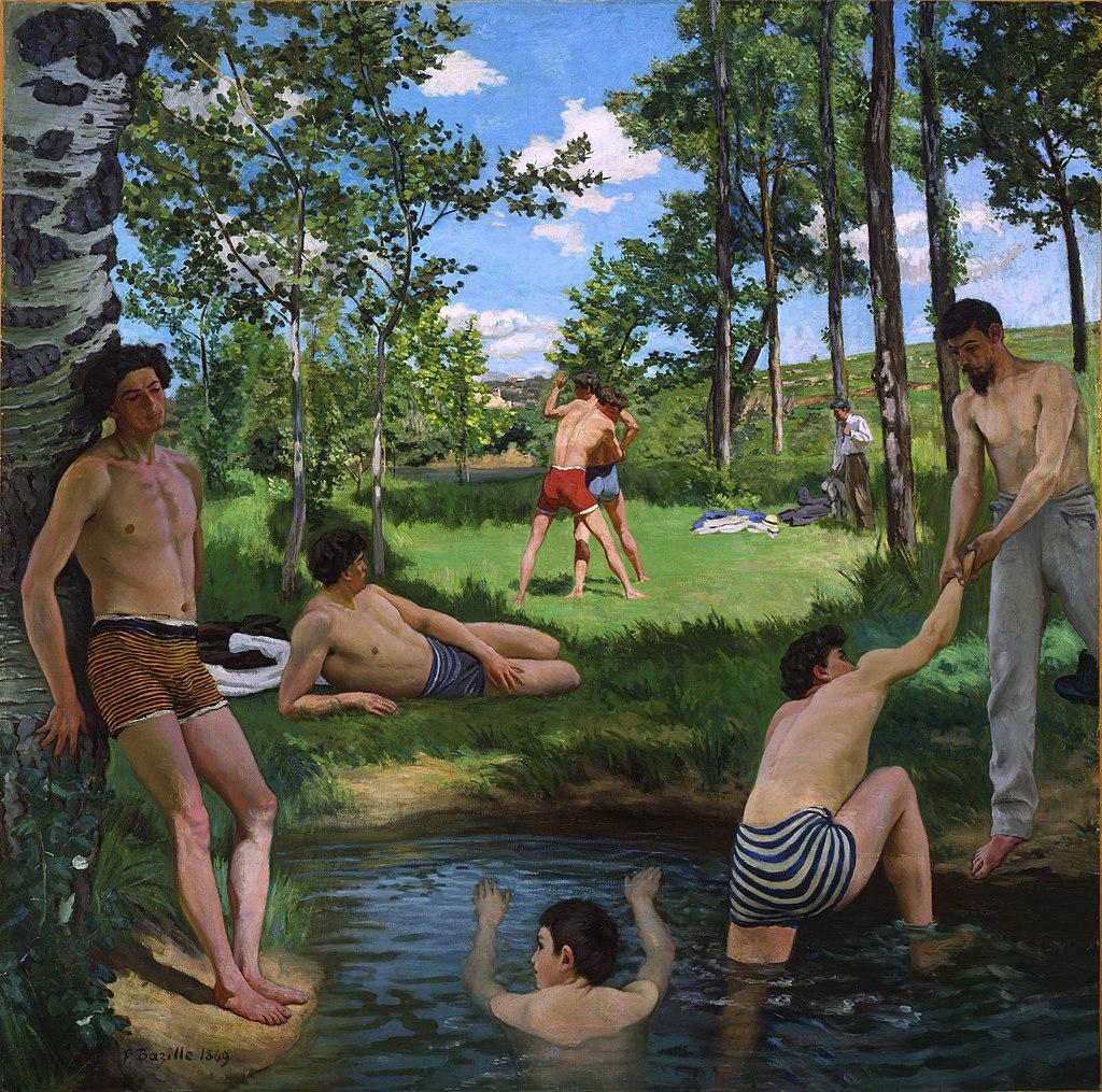 1024px-Bazille,_Frédéric_~_Summer_Scene,_1869,_Oil_on_canvas_Fogg_Art_Museum,_Cambridge,_Massachusetts